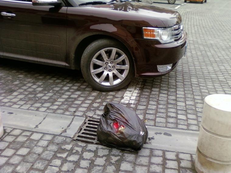 Gunoi în stradă