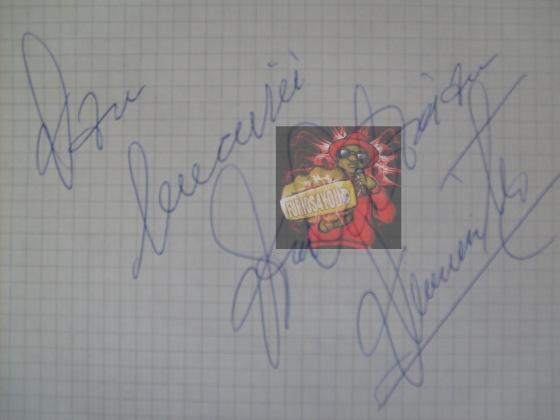 autograful primit:Dan bucurie