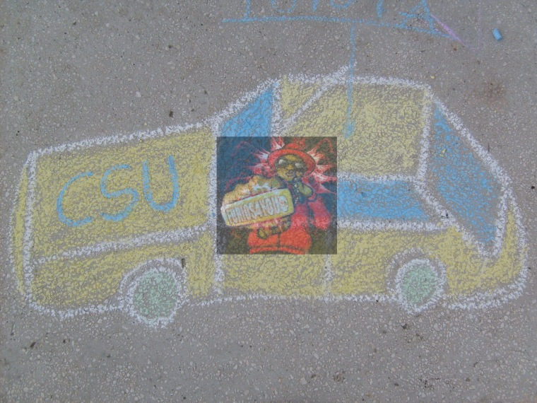 Desen pe asfalt