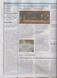 """Poza tricoului """"Vrem poliţişti locali responsabili"""" a apărut în ziarul SIBIU100% – 67.000exemplare"""