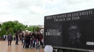 VIDEO: Tronul din Game of Thrones a ajuns la Sibiu. Pozele cu fanii vor apărea pe pagina oficială aserialului