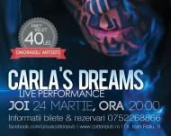 """CONCURS: Trimitem două persoane la super concertul """"CARLA'S DREAMS – LIVE PERFORMANCE"""" din Ursus Cotton PubSIBIU"""